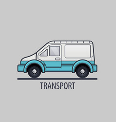 white delivery icon flat style vector image