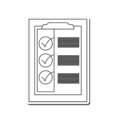 check list delivery design vector image