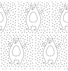 Winter Bear Seamless Pattern vector image