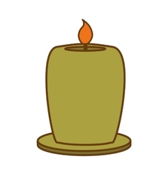 Candle house decoration icon image vector