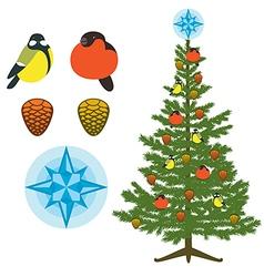 Christmas fir tree natural decor vector