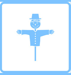 Scarecrow icon vector