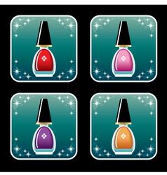 Set of icons of nail polish vector image