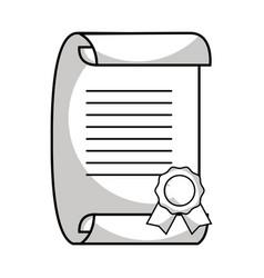 Line graduation certificate document to grade vector
