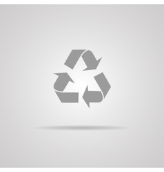 Recycle sign or icon vector