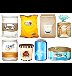 Set of packaged foods vector