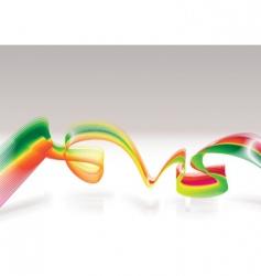 Rasta modern wave vector image