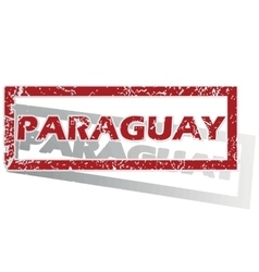 Paraguay outlined stamp vector