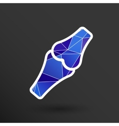 Knee joint sign icon bone knee health human vector