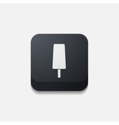 Square button ice vector