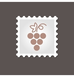 Grapes stamp outline vector