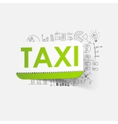 Drawing business formulas taxi vector