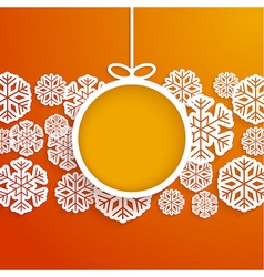 Christmas paper card vector