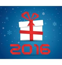 Gift box 2016 vector