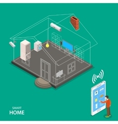 Smart home isometric flat concept vector