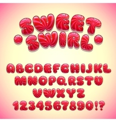 Funny sweet font vector image