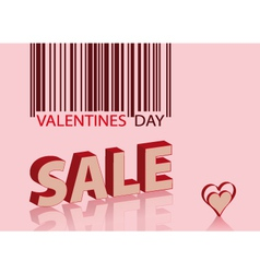 valentines sale vector image