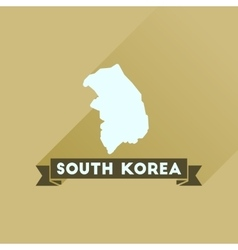 Flat icon with long shadow map south korea vector