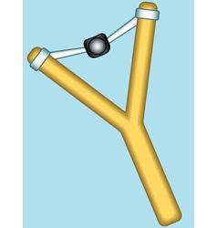 Forked slingshot icon vector image