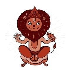 Hindu god narasimha vector
