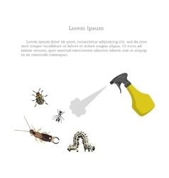 Pest control figure of garden pests and sprayer vector