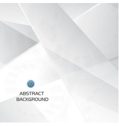 abstract grey and white geometric technology vector image