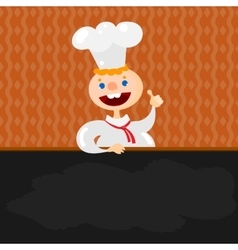 Blackboard menu and Chef vector image