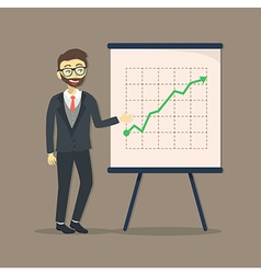 Businessman presentation growing up vector