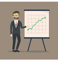 Businessman Presentation Growing Up vector image