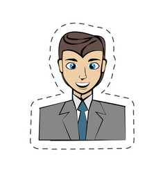 cartoon man avatar image vector image vector image