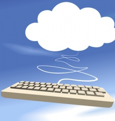 cloud and keyboard vector image vector image