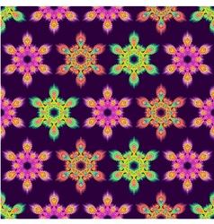 Colorful hexagon mandala seamless pattern vector image vector image