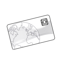 Credit card plastic business bank paying outline vector