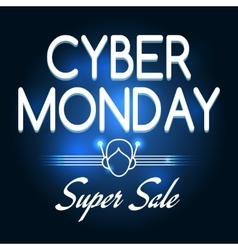 Cyber monday super sale poster vector