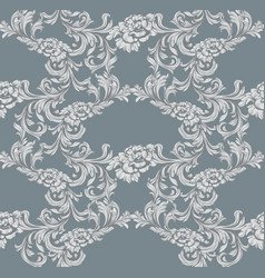 damask pattern decor for invitation wedding vector image vector image