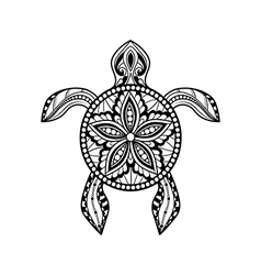 Decorative graphic turtle vector image