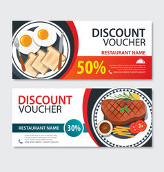 discount voucher american food template design vector image