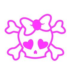 Emo skull vector image