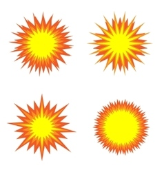 Explosion icon set vector image