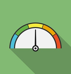 Icon of speedometer Flat style vector image