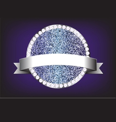 Label diamond sparkle glitter vector