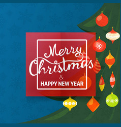 Merry christmas and happy new year greetings vector
