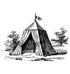 Military tent vector