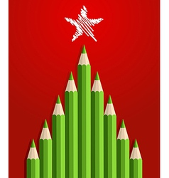 Pencils christmas tree vector