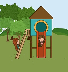 Playground design vector image vector image