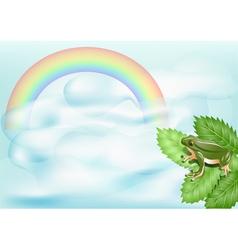 rainbow landscape vector image vector image
