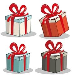 Retro gift boxes set vector