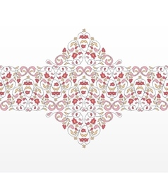 seamless border in Eastern style vector image