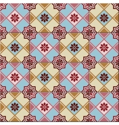 Seamless pattern white Turkish Moroccan vector image