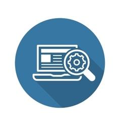 Search optimization icon flat design vector